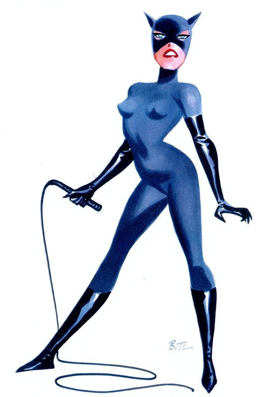 Catwoman and bruce timm on pinterest - Catwoman dessin ...