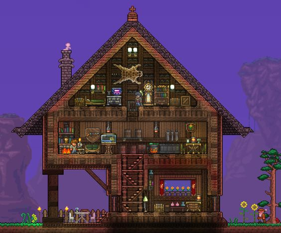 Terraria Interesting Columns And Roof Style Terraria And