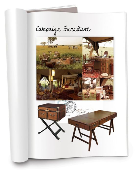 """""""Campaign Furniture"""" by patricia-dimmick ❤ liked on Polyvore"""