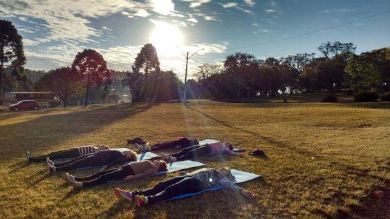 Ioga no Parque em Marau_ RS. Hora de relaxar
