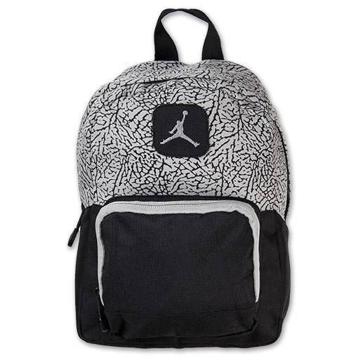 7dc31c782884 ... Nike Air Jordan Backpack Gray Black Toddler Preschool Boy Girl Small  Mini Bag Nike Backpack Jordan ...