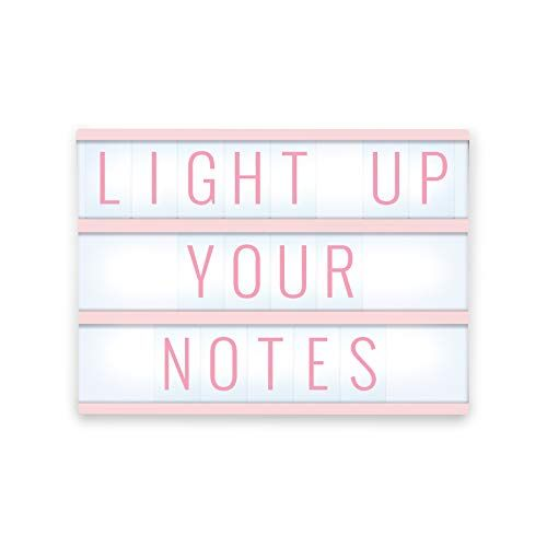 Merkury Innovations Light Up Box Led Message Letter Board Sign With 72 Letters And Symbols Movie Marquee Lightbox Aesthe Light Up Box Light Box Light Display