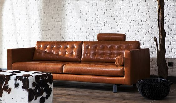 montis axel sofa in cognac leer living dining room pinterest
