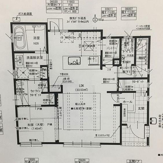 部屋全体 間取り図 マイホーム記録 1階間取り図 パントリー などのインテリア実例 2016 01 20 02 27 53 Roomclip ルームクリップ 間取り 間取り図 40坪 間取り