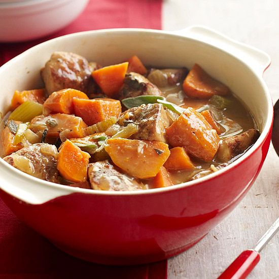 Pork and Sweet Potato Stew - nutmeg, sage, and apple-cranberry juice ...