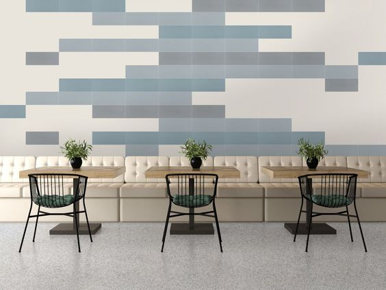 "The Design Positive 2 Series from the Garden State Tile wall Collection is an upgrade from the Design Positive series featuring an enhanced pallet of 36 soft and deep tones that are inline with today's color trend. The glazed ceramic wall tiles are available in in 4""x20"" planks and are a refreshing pop of color in any space."
