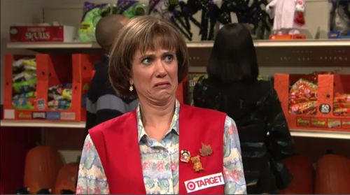 kristen wiig's target cashier; one of my favorites.: