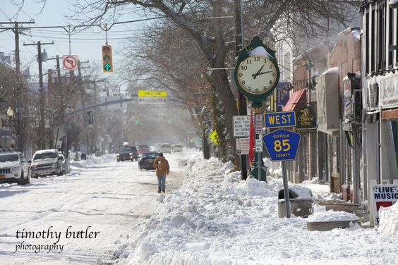 Main Street in Sayville after Winter Storm Nemo - photo courtesy of Timothy Butler.