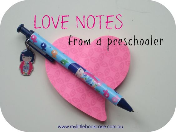 An invitation to help preschoolers to take part in some role-play/pretend writing.  From www.mylittlebookcase.com.au