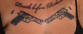 Look at my Guns Tattoo