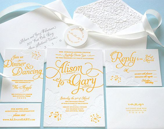 Alison and Gary Wedding Invitation | Awesome Design Inspiration