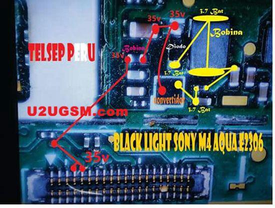 Sony Xperia M4 Aqua E2306 Display Light Solution Light Display Sony Xperia Sony