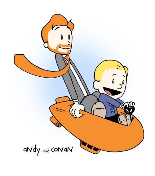 andy + conan = calvin + hobbes!