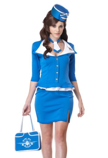 Flight Attendant Costume:: Pan Am Halloween:: Vintage Costumes:: Pin Up Girl