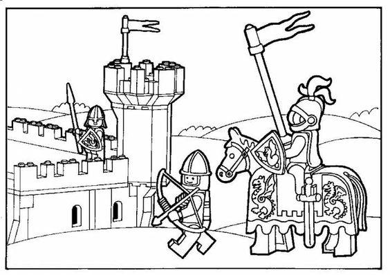 kleurplaten ridders lego kleurplaten lego