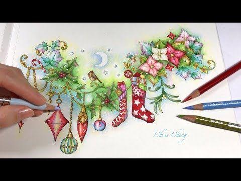 Merry Christmas Johanna S Christmas Coloring Book Youtube Chris Chen Christmas Coloring Books Johanna Basford Coloring Book Merry Christmas Coloring Pages
