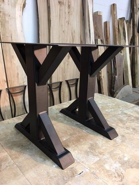 28 Inch Tall Certified Lean Steel Dining Table Base Set Part Z