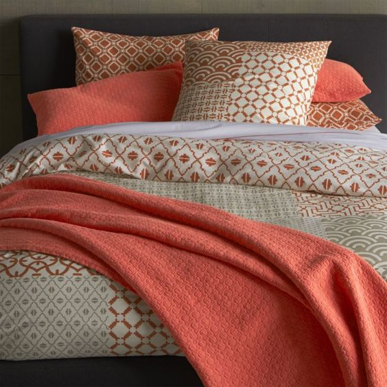 Bed linens crate and barrel and blossoms on pinterest for Crate barrel comforter