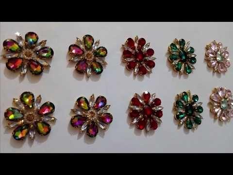 À faire soi-même 10-100PCS ruban satin fleur cristal perles appliques mariage décoration @ 20