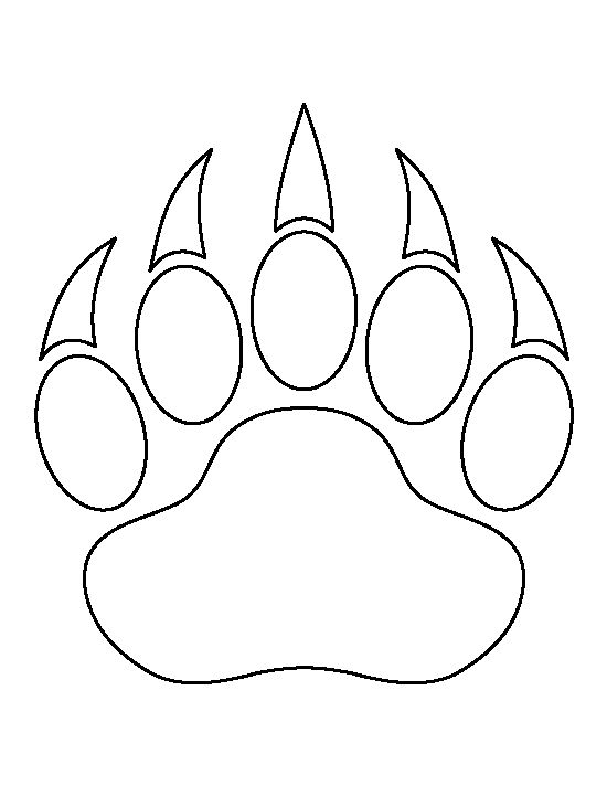 Bear Paw Print Template bear paw print pattern. use the printable ...