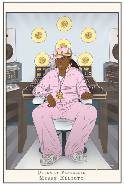 Queen of Pentacles - Missy Elliott Art Print