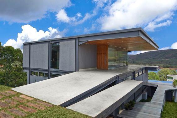 Arquitetura Rampa Entrada Social Declive Houses Doors