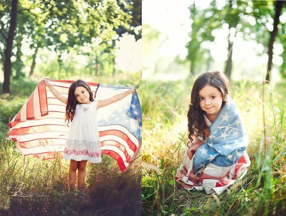 Child Photoshoot. Patriotic technically I think you're night supposed to let the flag touch the ground or wear it as clothing but these are gorgeous shots