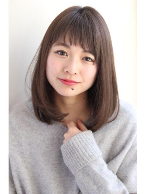 Garden ミディアム ストレート 小顔ナチュラル 田塚裕志 L009053229