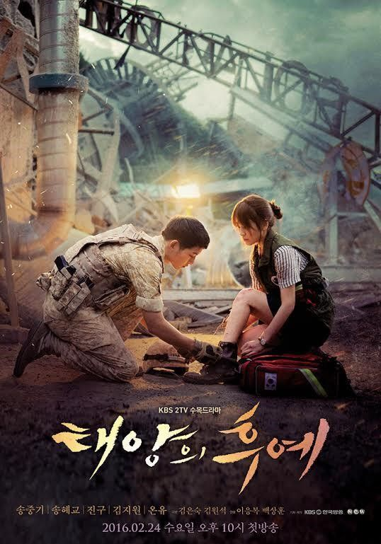 "Love Blossoms for Song Joong Ki and Song Hye Gyo in New ""Descendants of the Sun"" Poster:"