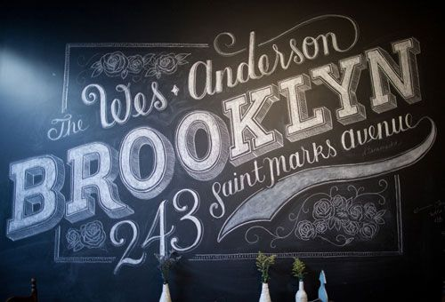 Chalk on chalk board