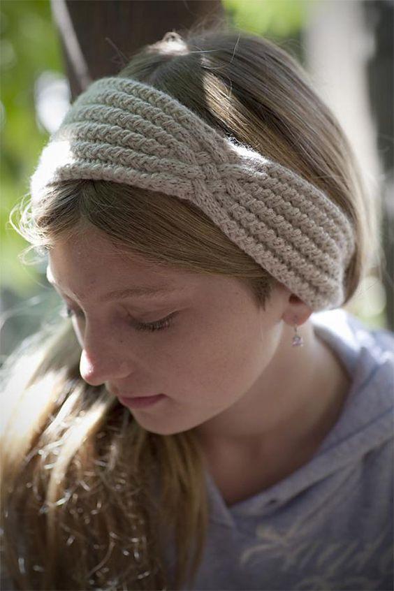 Twist Headband Knitting Pattern : Stash buster knitting patterns to make space (for more yarn Yarns, Twists a...