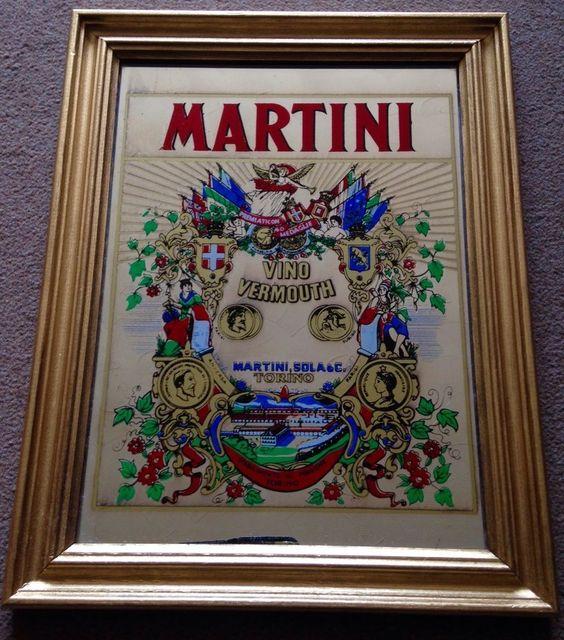 VINTAGE RETRO 1970s MARTINI VINO VERMOUTH TORINO PICTURE WALL MIRROR COLLECTOR | eBay