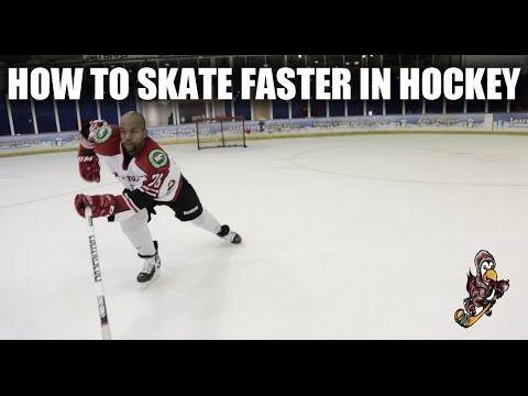 How To Skate Faster In Hockey Video Tutorial Forward Stride Tips Youtube Youth Hockey Hockey Kids Hockey Training