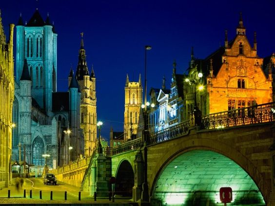 Evening in ghent Belgium travel and world Wallpaper - Wicked Wallpaper - FREE HD wallpapers