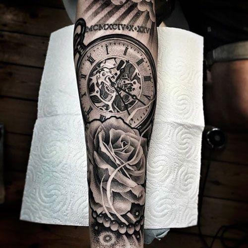 125 Best Forearm Tattoos For Men Cool Ideas Designs 2021 Guide Lil B Tattoo Watch Tattoos Pocket Watch Tattoos