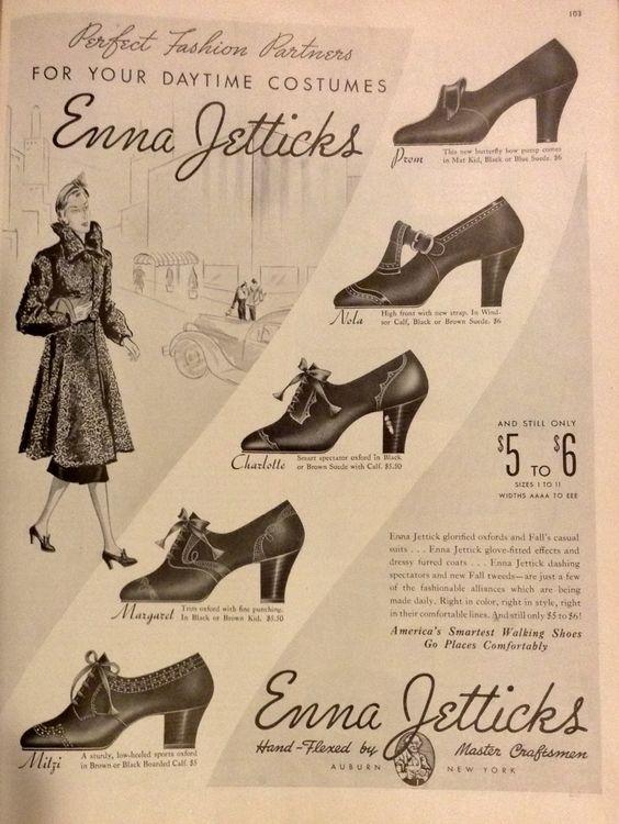 Emma Jetticks shoes advertisement 1938
