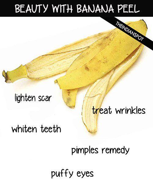 Top Five Beauty Treatments With Banana Peel