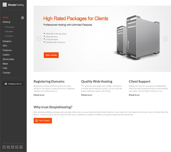 This web hosting WordPress theme comes with a minimal design, a - invoice generator pdf