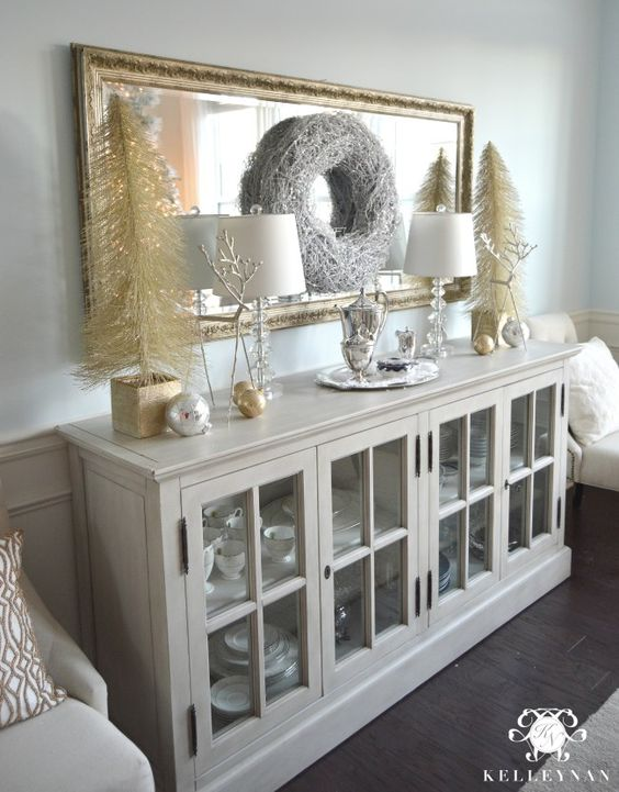 2015 Christmas Home Tour Metallic Gold Home And