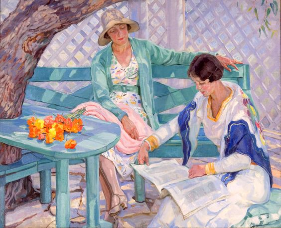 Reading and Art: Hilda Rix Nicholas: