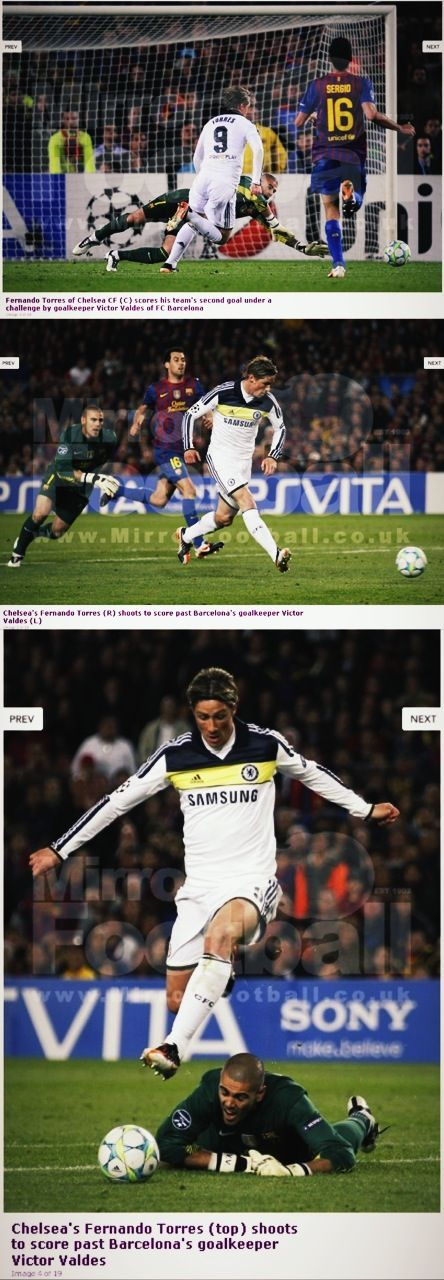 Torres scores against Barcelona - pretty cool