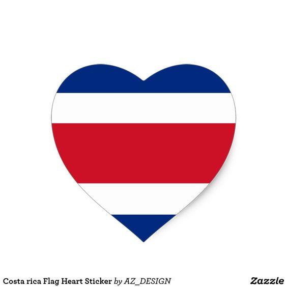Costa Rica Flag Heart Sticker Zazzle Com Costa Rica Flag Heart Stickers Costa Rica