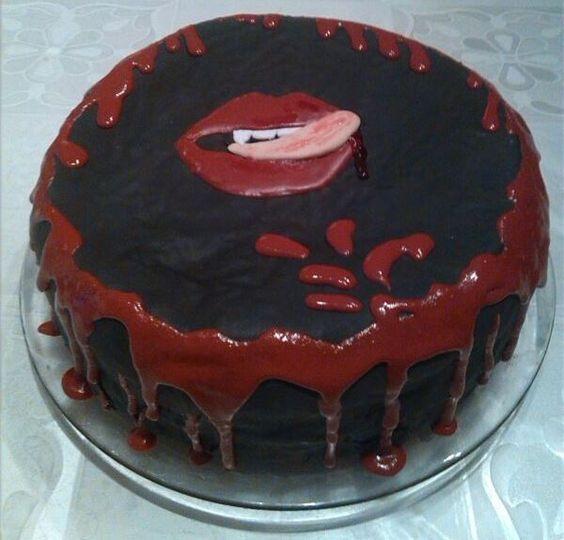 Tarta True Blood de halloween