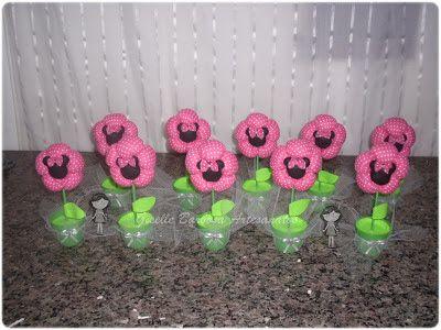 Giselle Barbosa Artesanatos: Lembrancinhas Flores Minnie