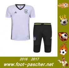 T-Shirt Du Allemagne + Pantalon 3/4 Blanc Kit Saisson 2016 2017 Thailande Pas Chere