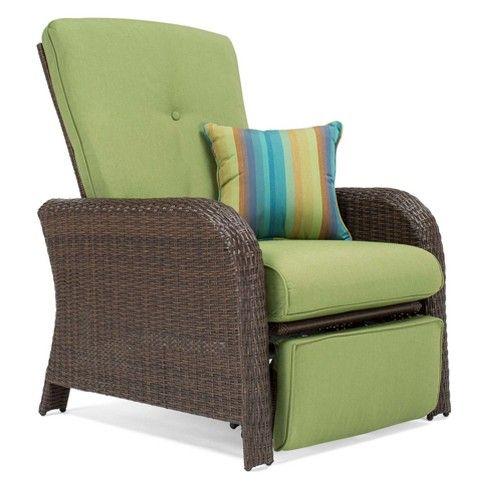 La Z Boy Outdoor Sawyer Wicker Outdoor Recliner With Sunbrella Spectrum Cushion Target Outdoor Recliner Patio Furniture Cushions Wicker Patio Furniture
