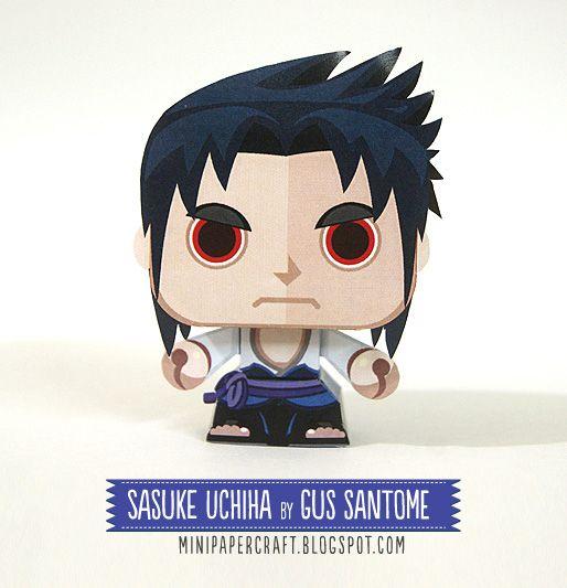 Mini Papercraft Sasuke Uchiha Mini Paper Toy Paper Toy