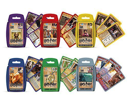 Winningmoves 6 Harry Potter Top Trumps Kartenspiele Quartettspiele Deutsch Gefangene Von Askaban Feuerkelch Orden Orden Des Phoenix Kartenspiel Karte Spiel