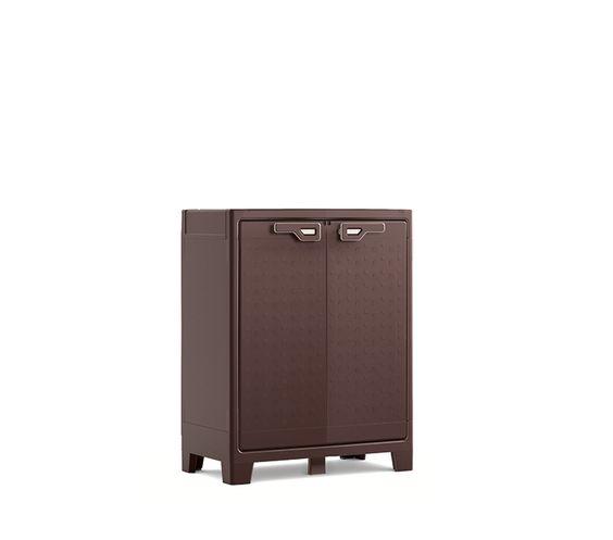 Kis titan armadietto da esterno con finitura marrone ideale per l arredamento da esterno - Armadietto plastica per esterno ...