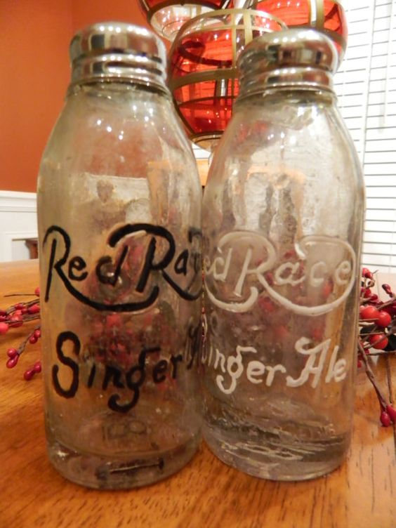 RED RACE Ginger Ale TIFTON Ga Salt and Pepper by NostalgicGreen
